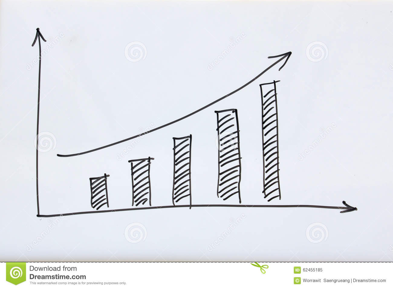 Business Growth Graph Stock Image Of Progress 62455185 Computer Mouse Management On A Success Diagram