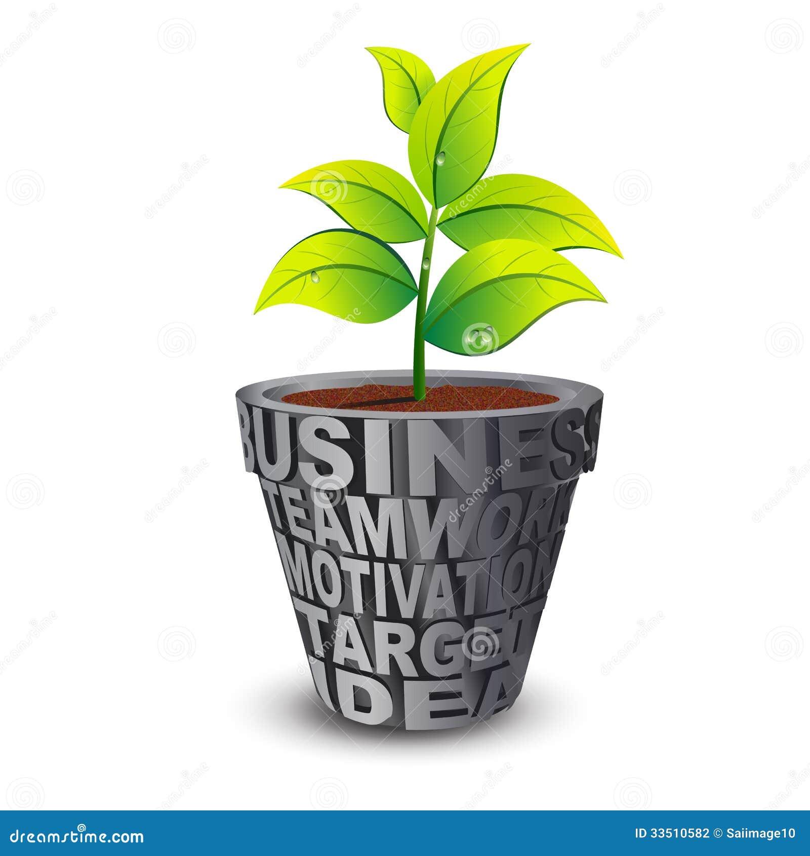 Business Growth Plant Stock Illustration Illustration Of Motivation 33510582