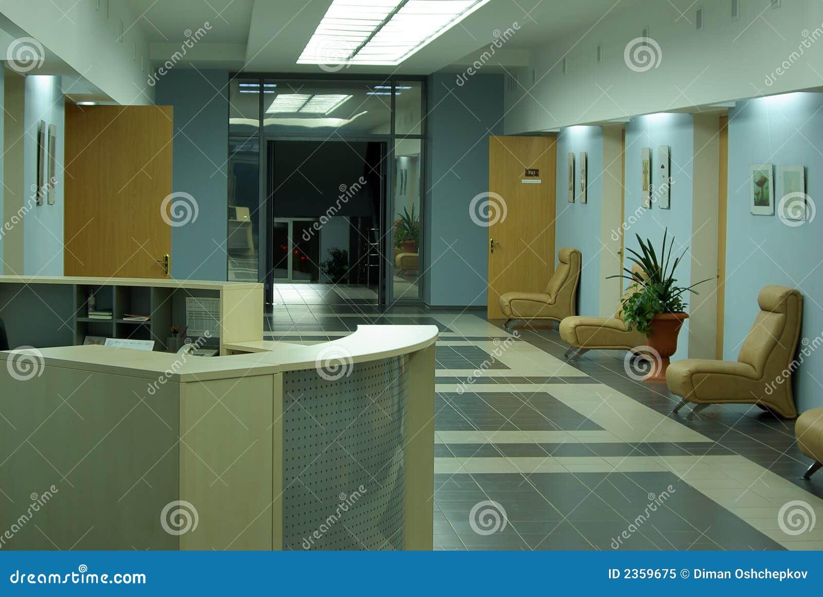 Business hall interior