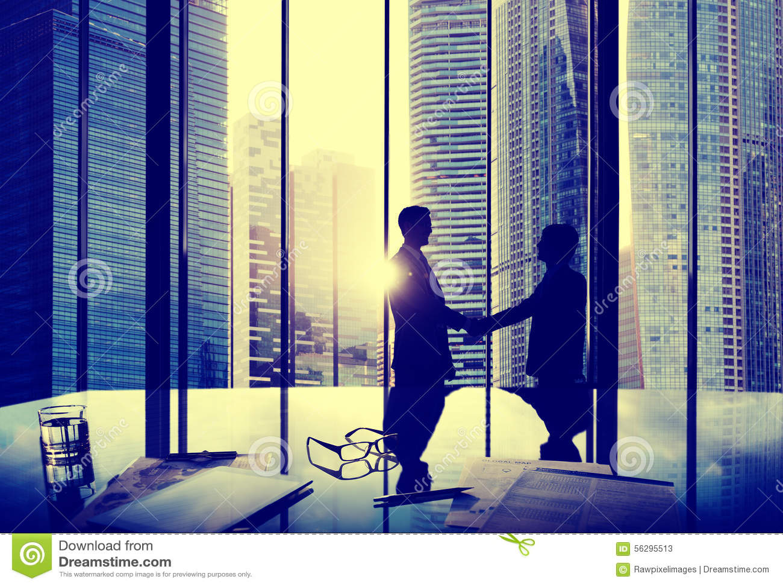 Business Handshake Agreement Partnership Deal Team Office Concep