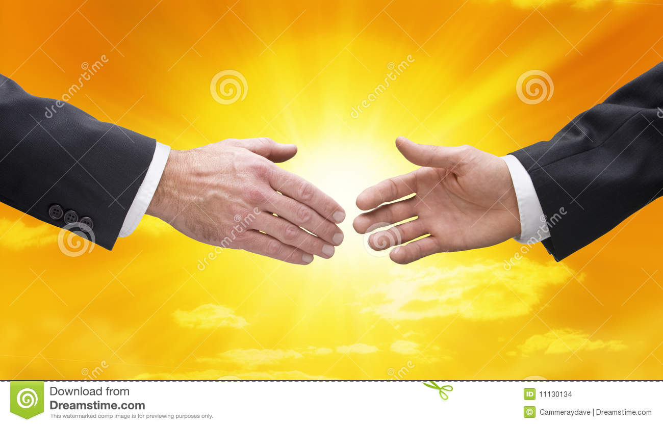 Business people handshake greeting deal at work photo free download - Business Handshake Hands Sky Sun Stock Images