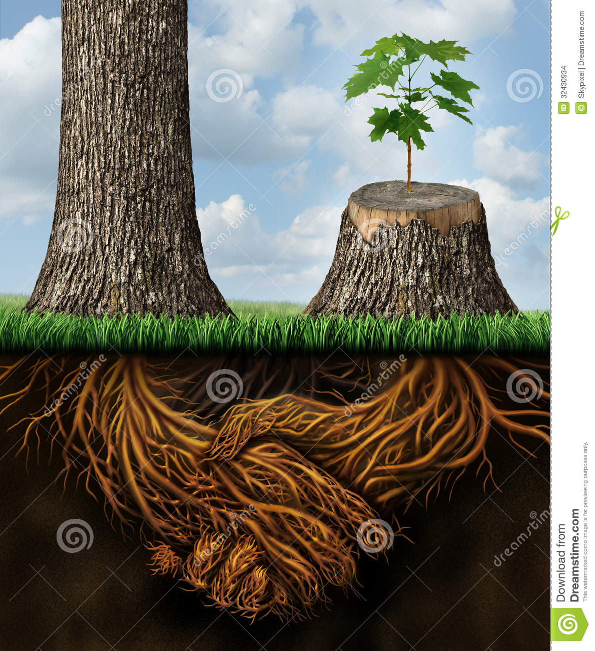 Business help stock images image 32430934 for Tall tree stump ideas