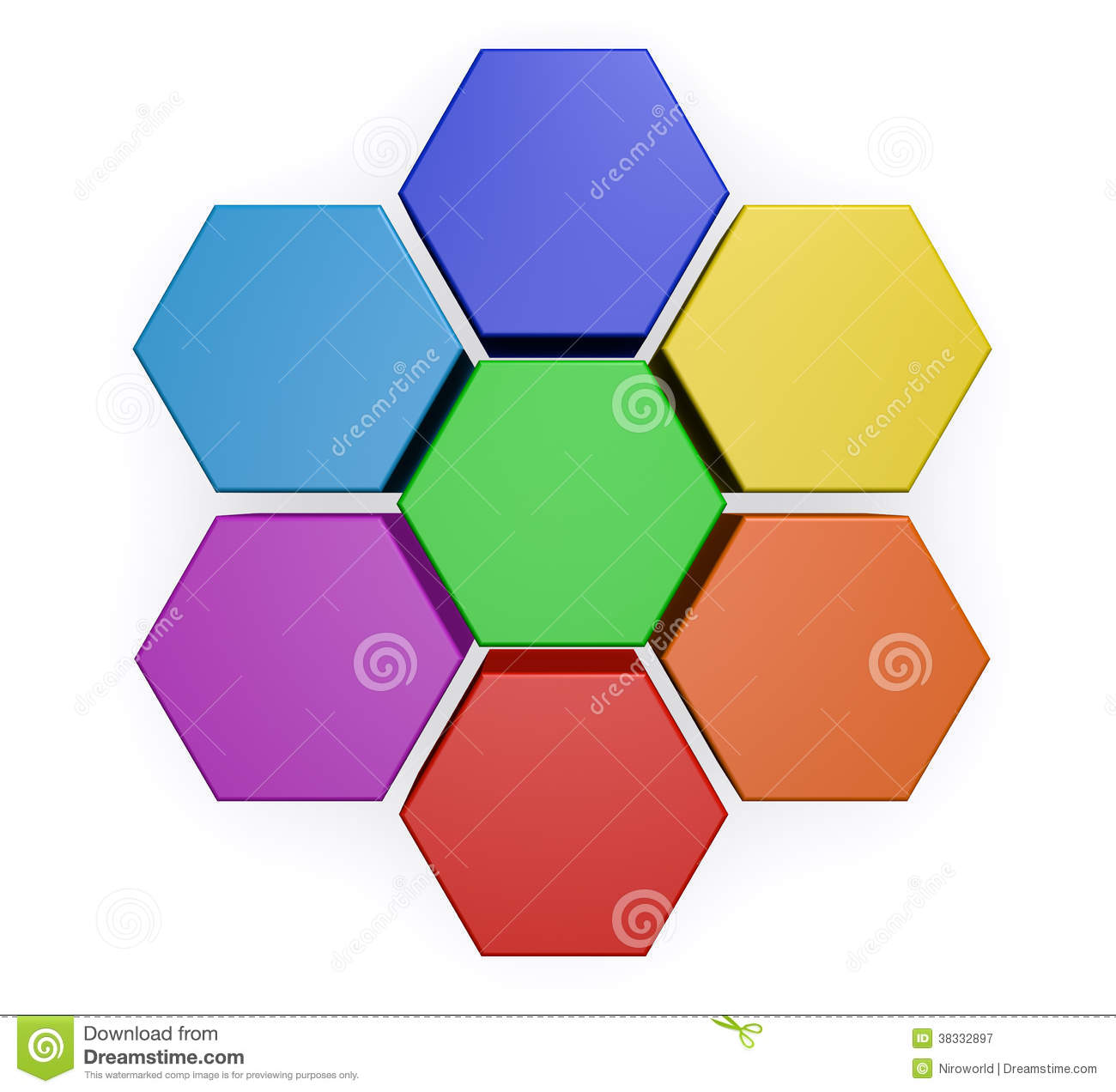 Business Hexagon Chart Diagram Royalty Free Stock