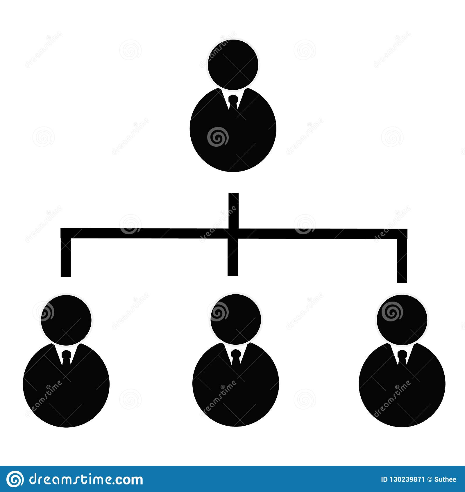 Business hierarchical icon on transparent background. business h