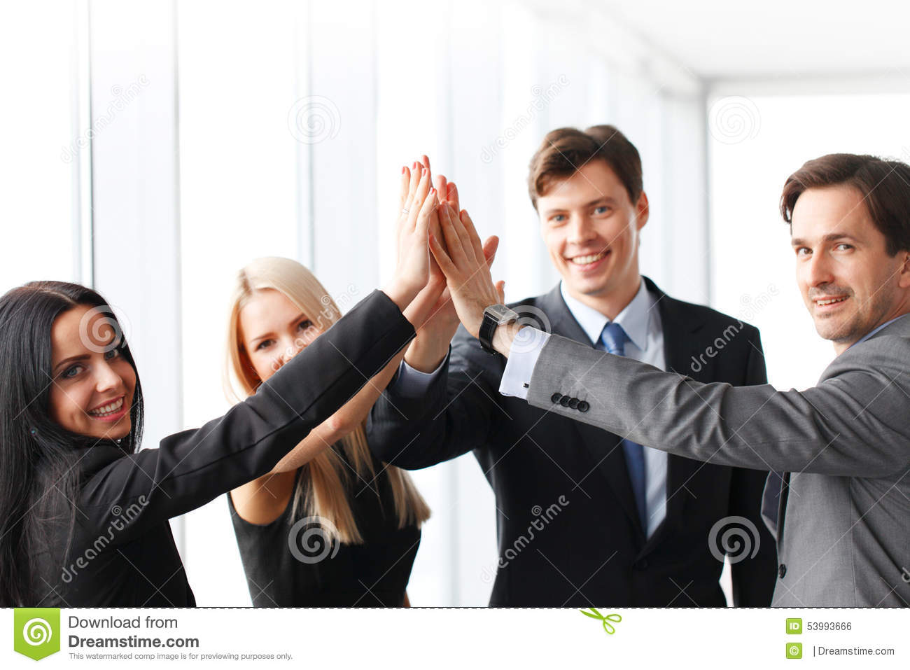Business highfive
