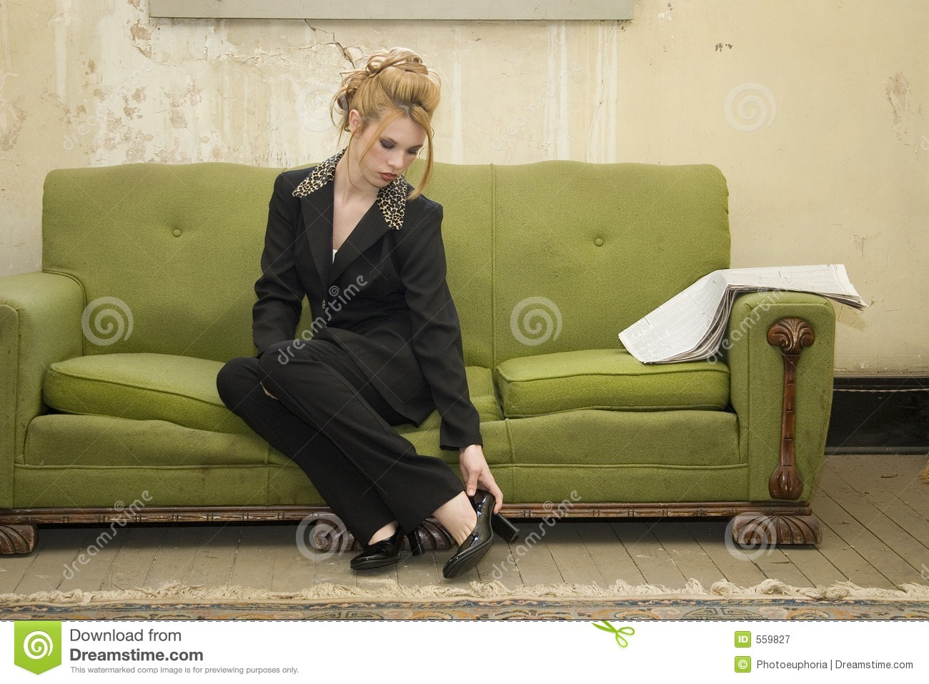Business home impoverished woman