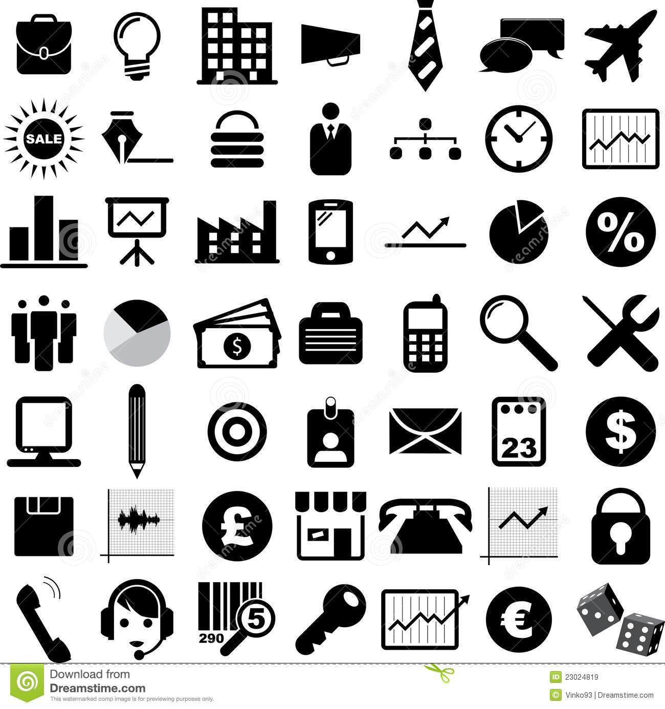 Business Icons Royalty Free Stock Images - Image: 23024819