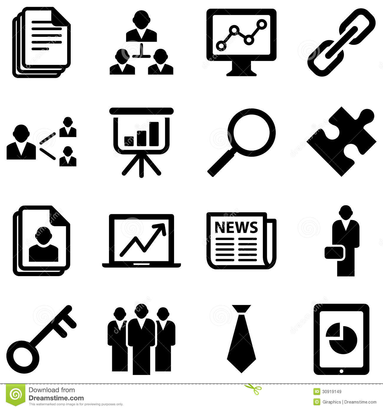 Business Icons Royalty Free Stock Images - Image: 30919149