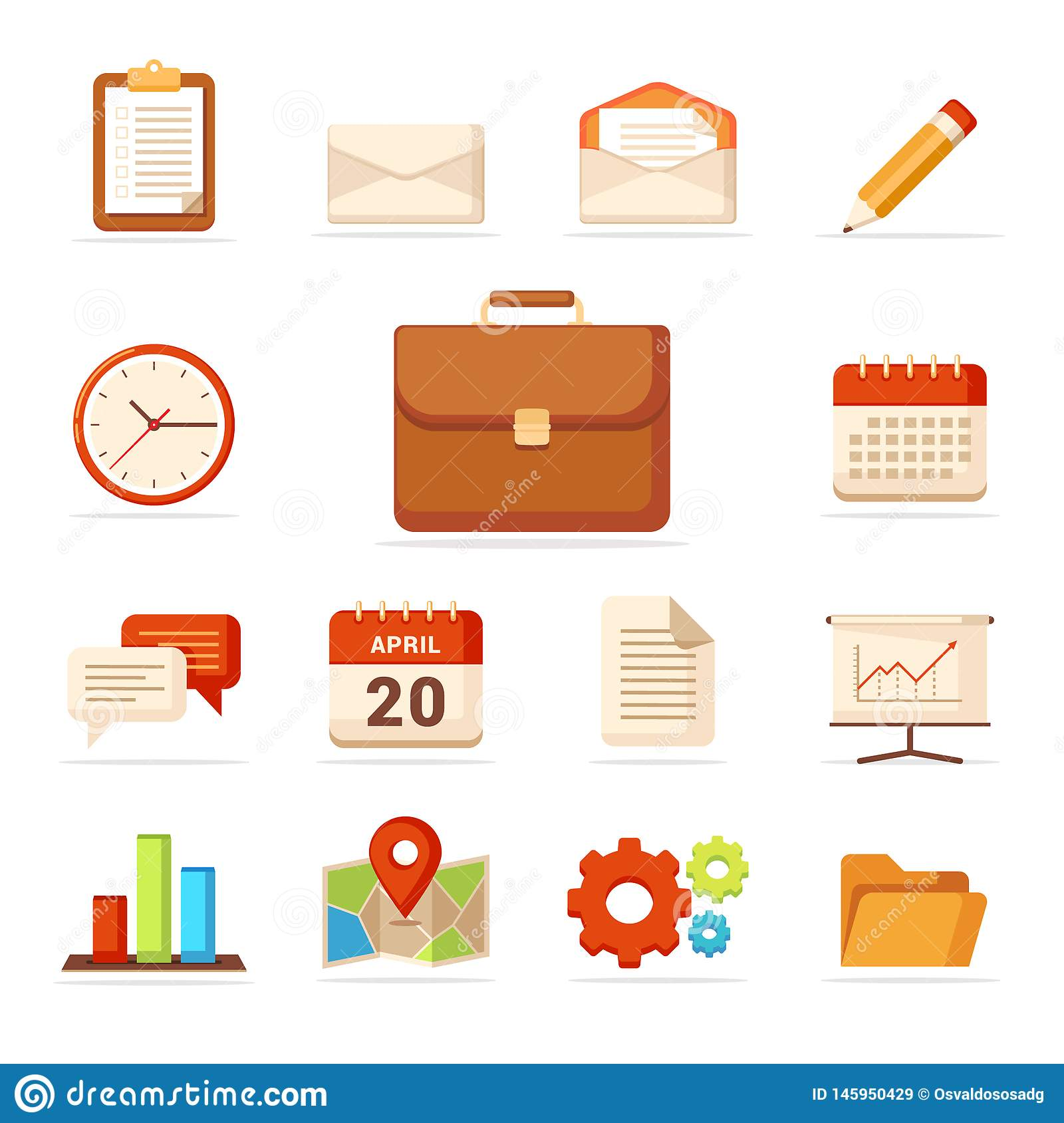 Business Icons Set - Vector - Vector