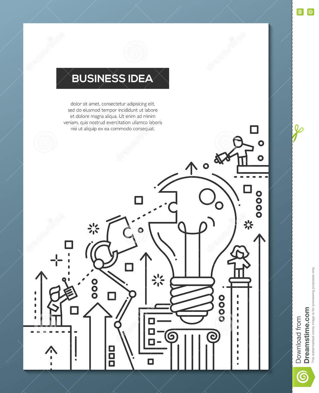 Business idea line design brochure poster template a4 stock vector download business idea line design brochure poster template a4 stock vector illustration of improvement wajeb Image collections
