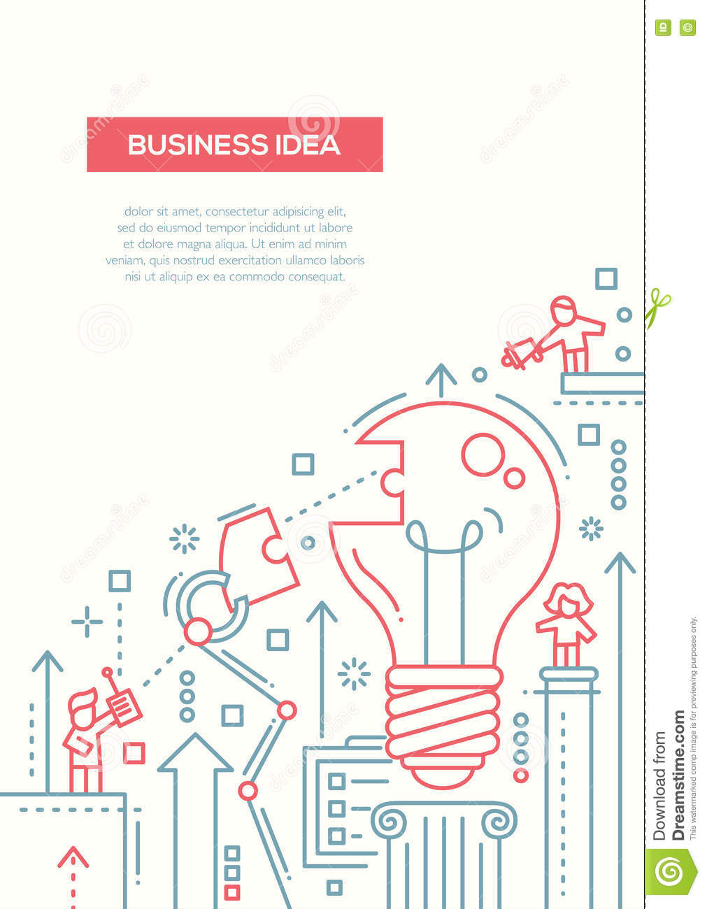 Business idea line design brochure poster template a4 stock vector download business idea line design brochure poster template a4 stock vector illustration of element wajeb Gallery