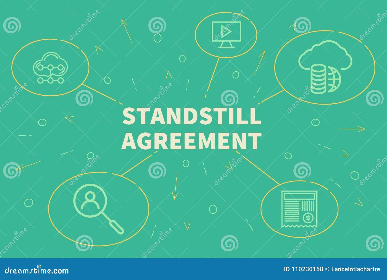 business illustration showing the concept of standstill agreemen