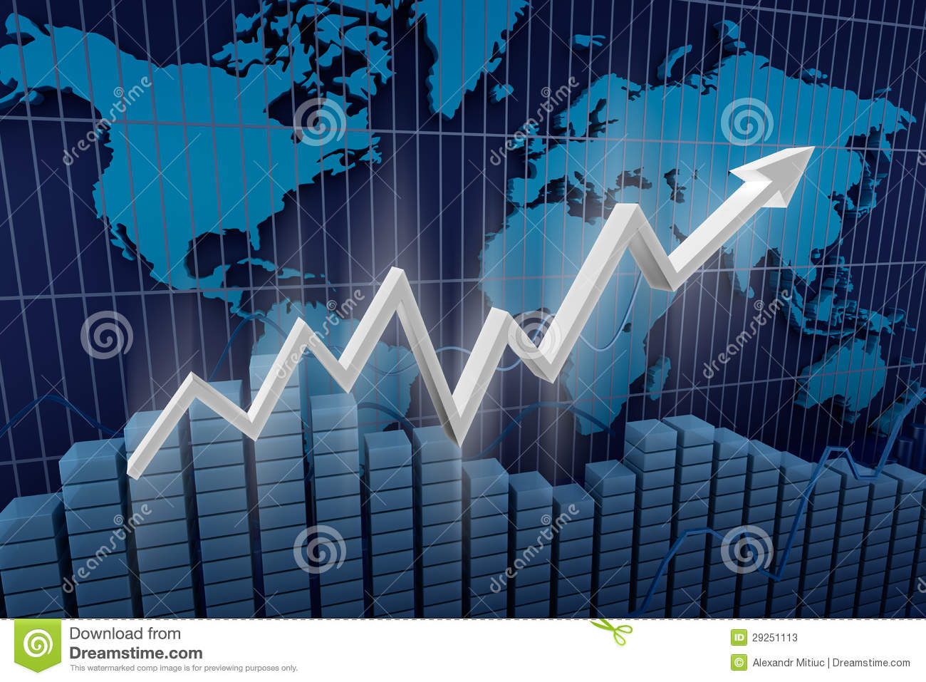 Business  Income Diagram Background  Stock Illustration