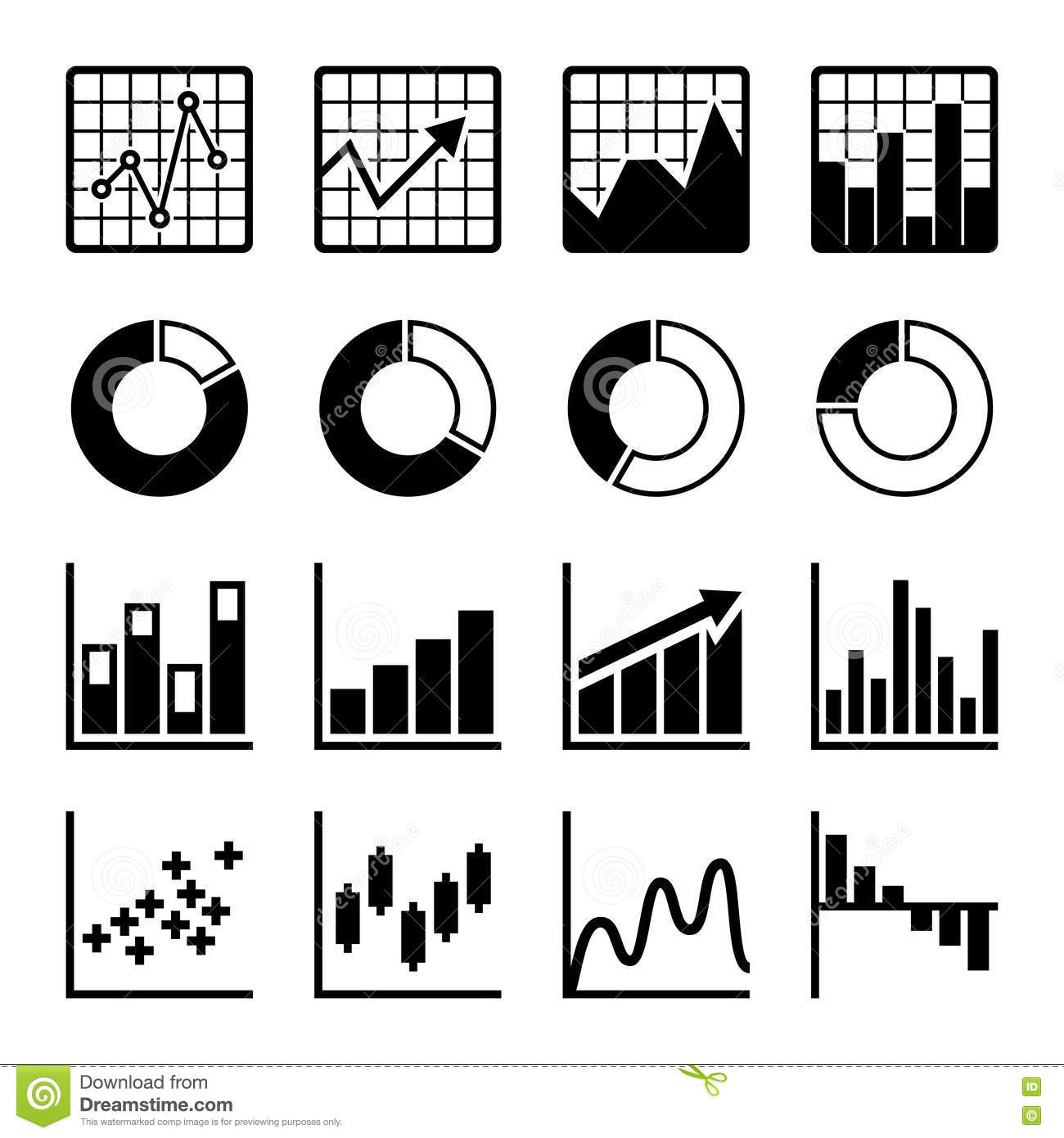 business infographic icons stock vector illustration of histogram