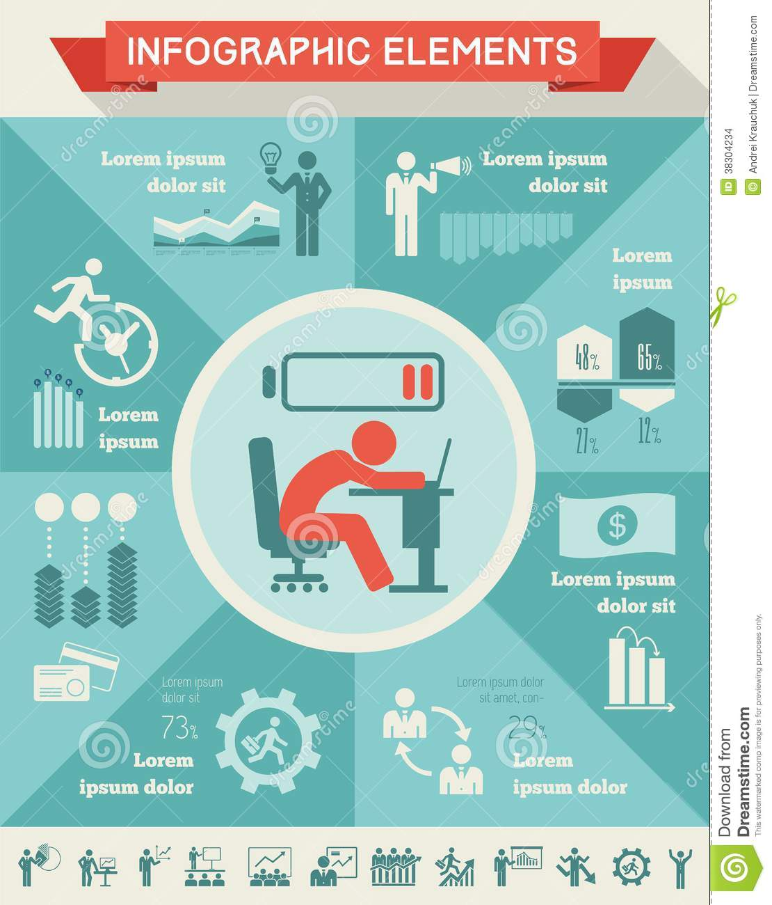 Business Infographic Template. Stock Images - Image: 38304234