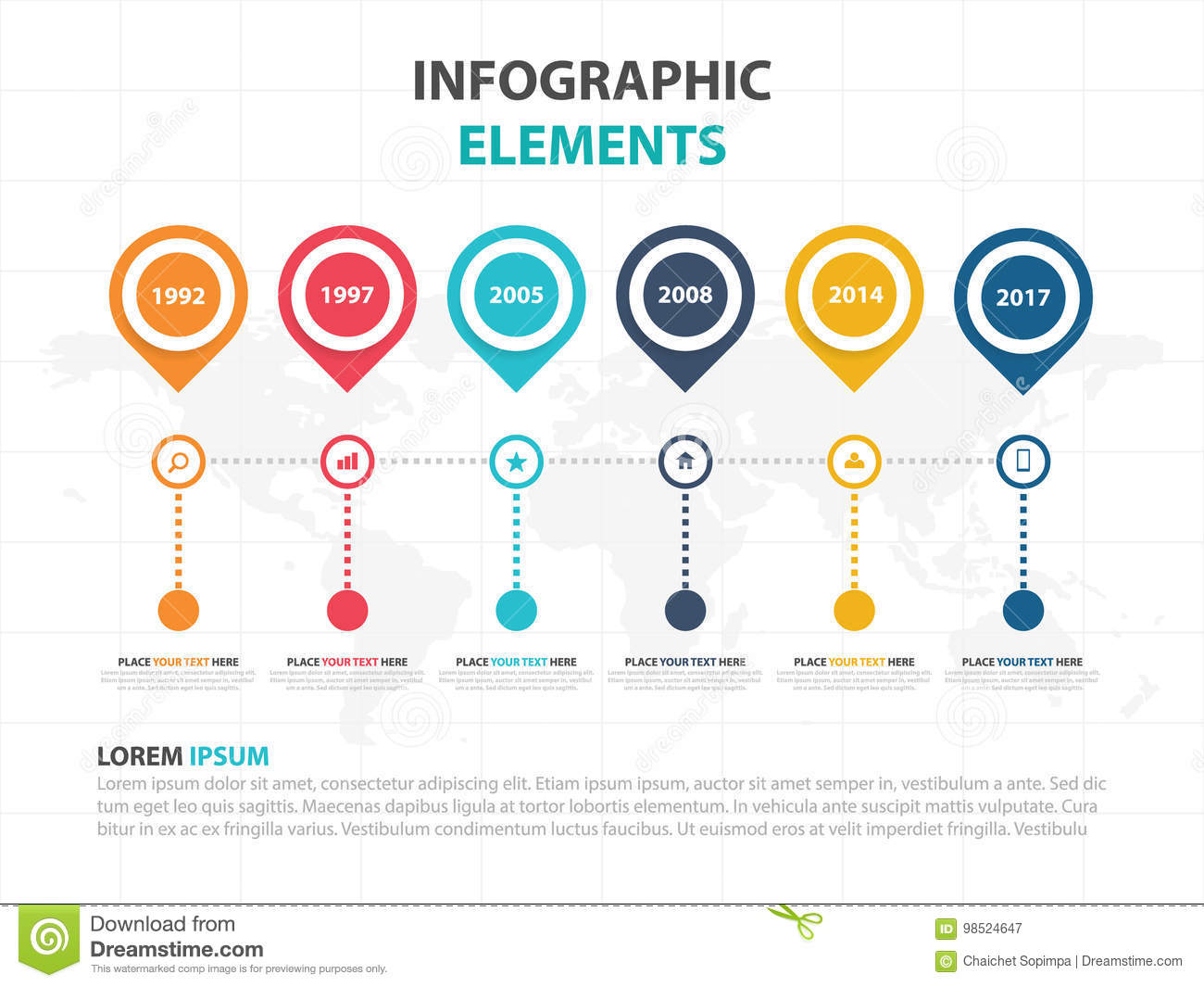 Business infographic timeline process template colorful banner text download business infographic timeline process template colorful banner text box desgin for presentation presentation ccuart Image collections