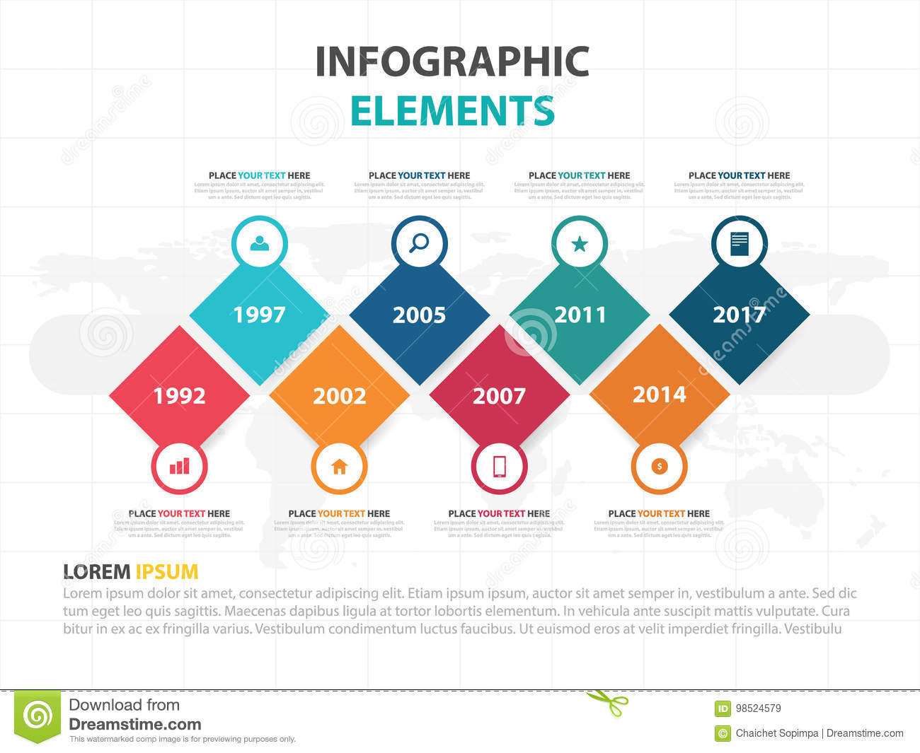 Business Infographic timeline process template, Colorful Banner text box designfor presentation, presentation for workflow diagram