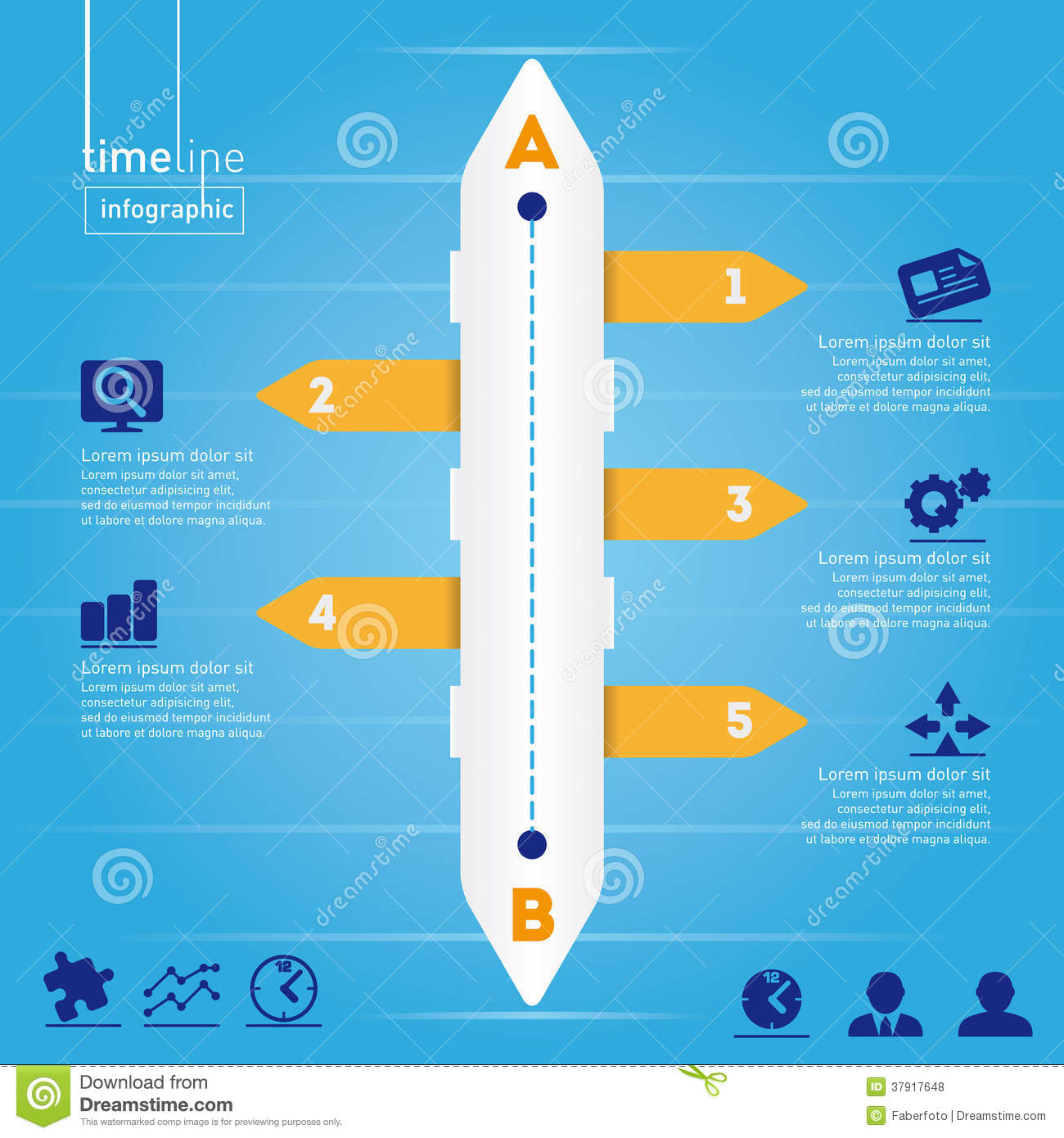 Business Infographic: Timeline style, with origina