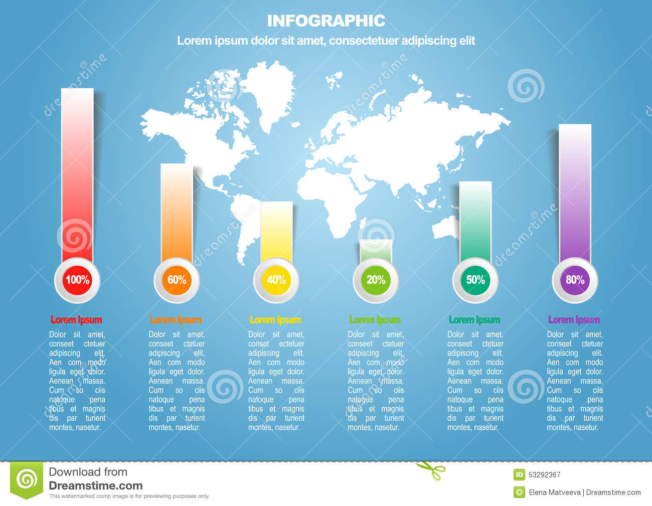 Business infographic 3 of 6 with world map stock vector business infographic 3 of 6 with world map royalty free vector gumiabroncs Images