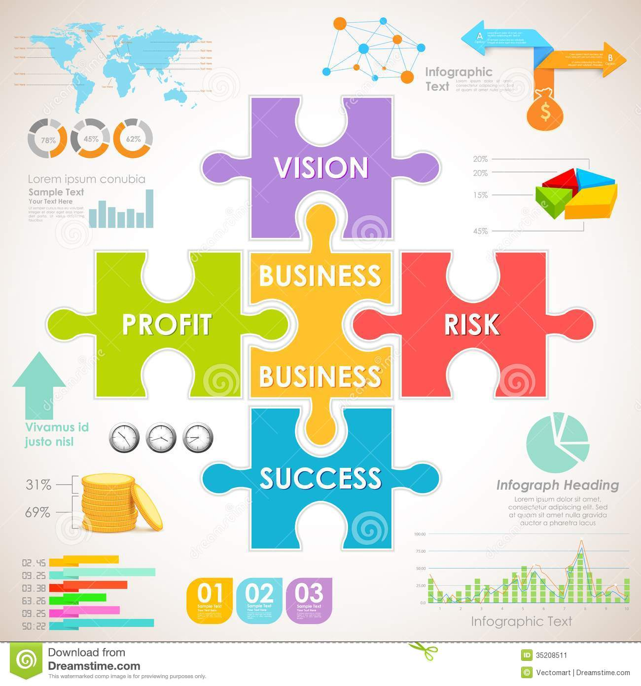 Business Infographics Chart Stock Image - Image: 35208511