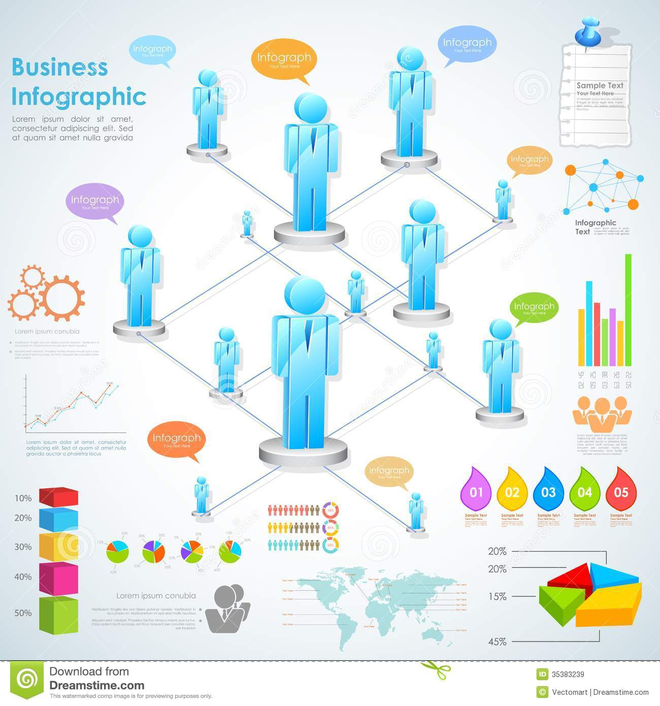 Business Infographics stock vector. Illustration of ...