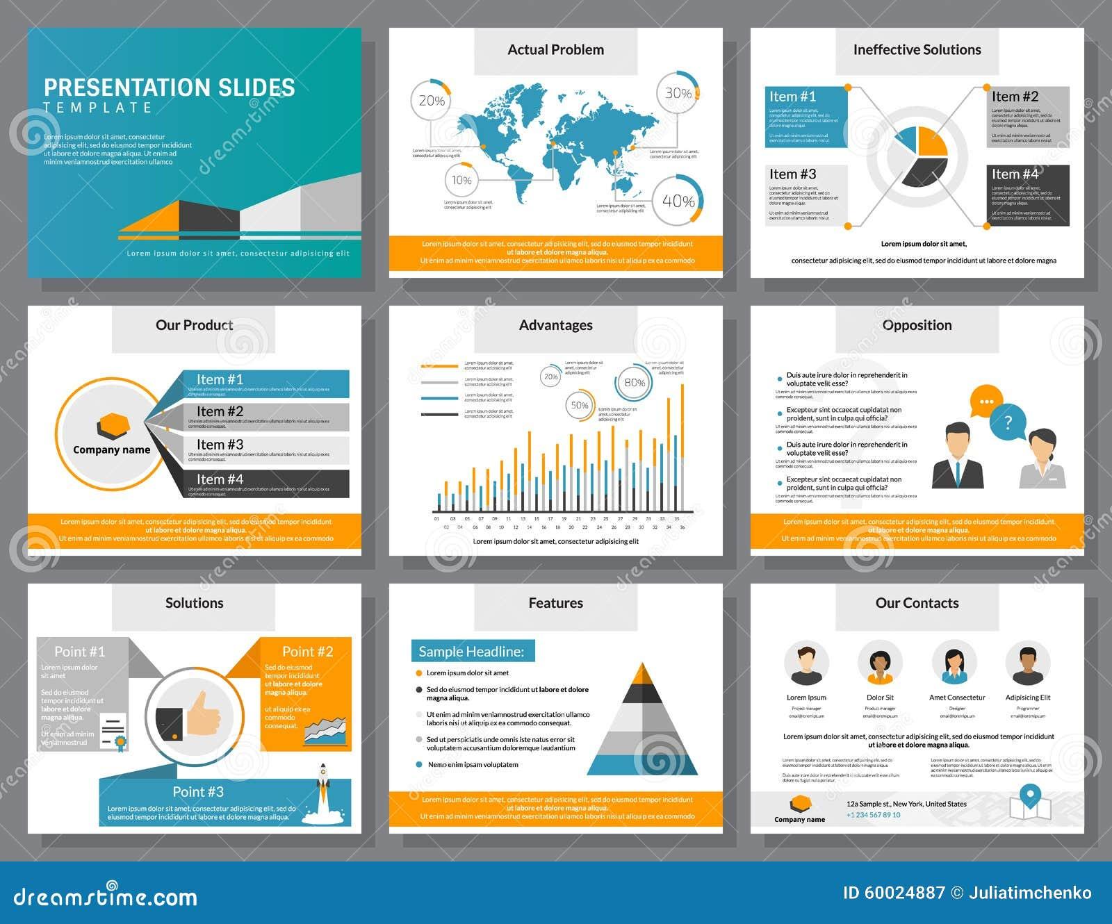 Business Infographics Presentation Slides Template Stock