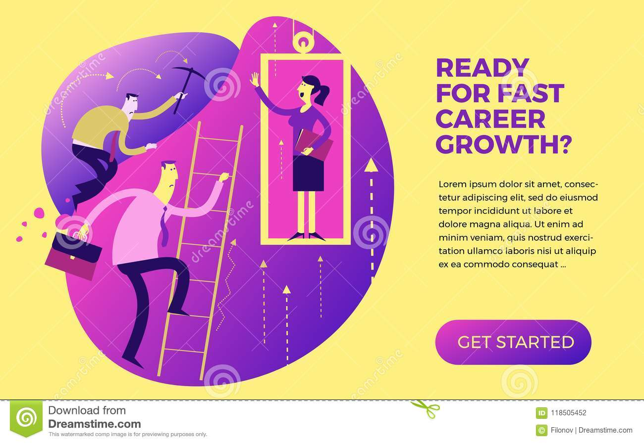 business infographics business situations career ladder service