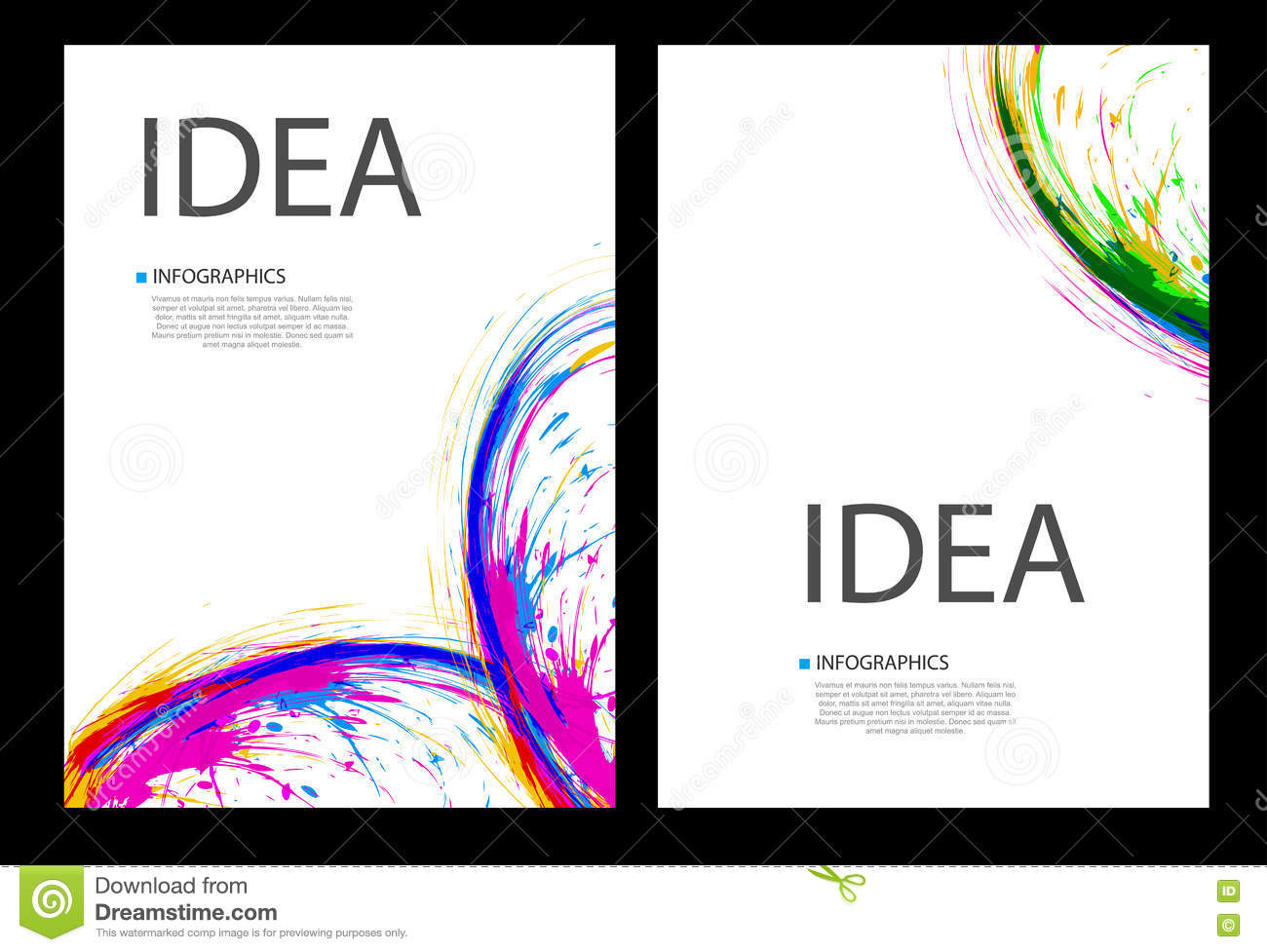 business ink cover page layout stock vector image  business ink cover page layout