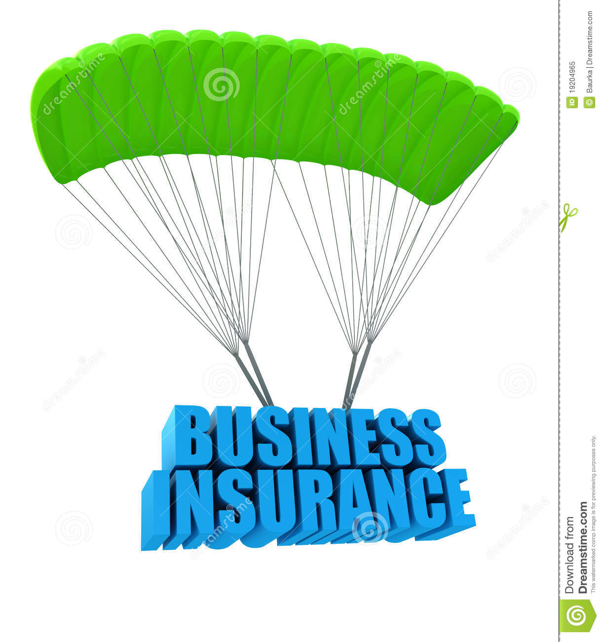 Business insurance concept isolated on white