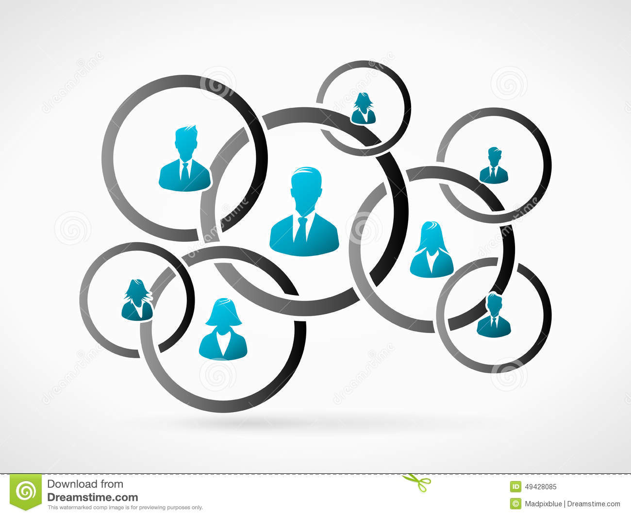 Business organization interaction. Human people icon silhouette.