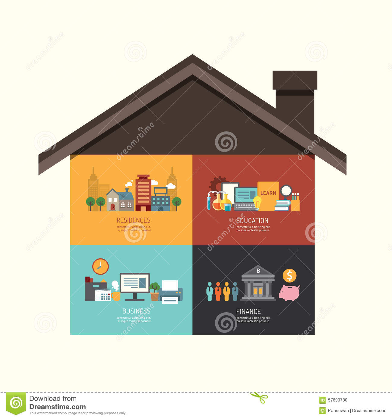 Business investment concept infographic building house for Building a dog kennel business