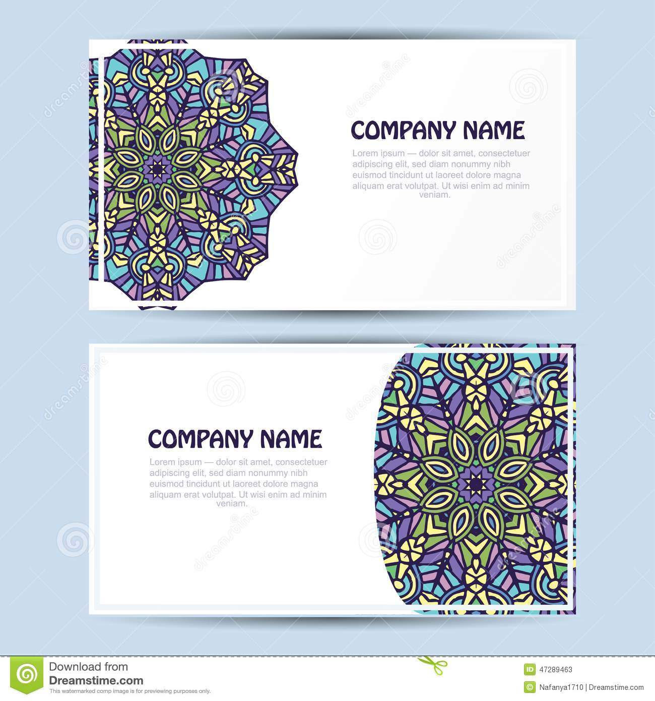Business And Invitation Card With Lace Ornament Vector Background – Invitation Card Business