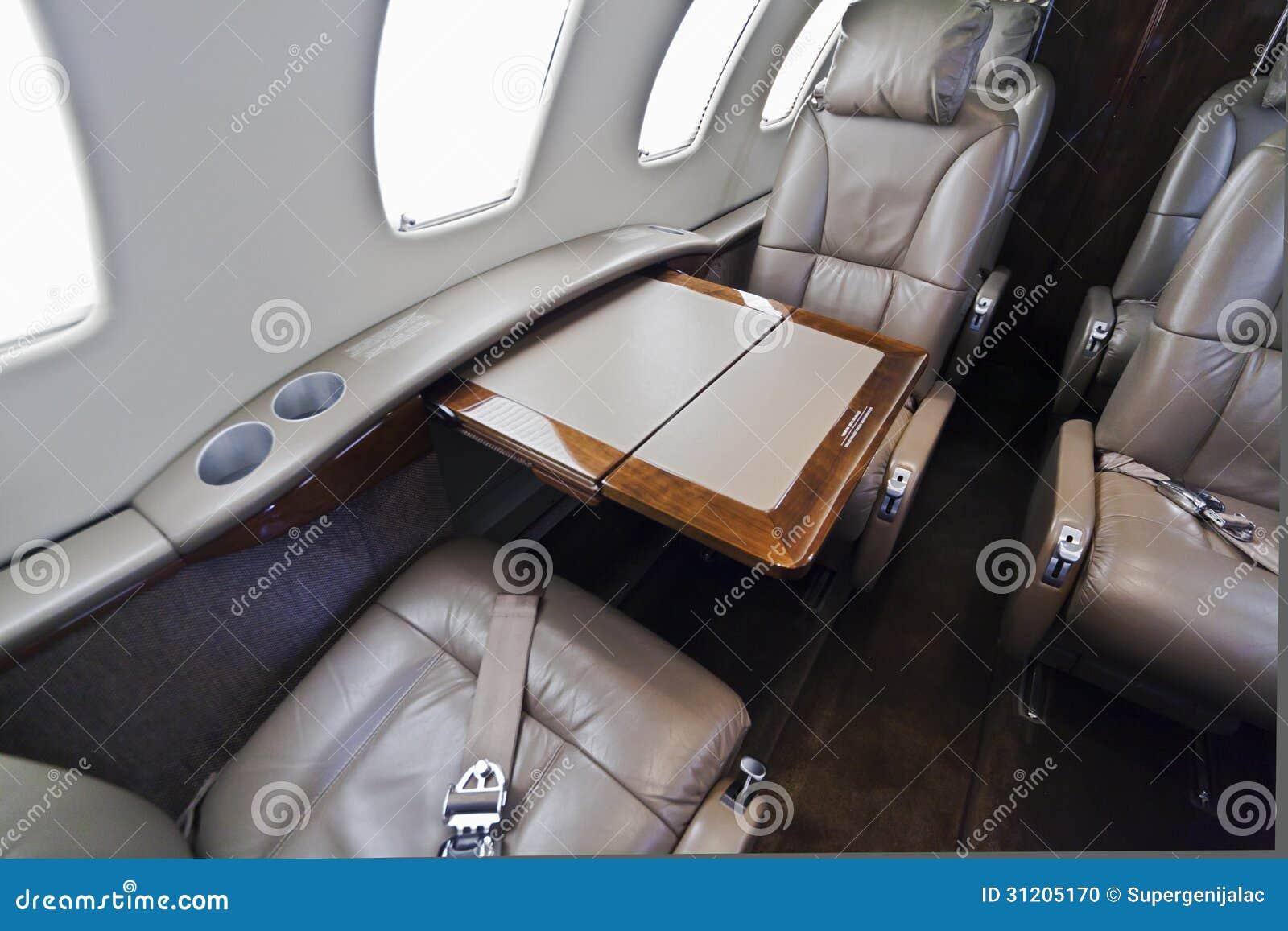 business jet interior stock photo image 31205170. Black Bedroom Furniture Sets. Home Design Ideas