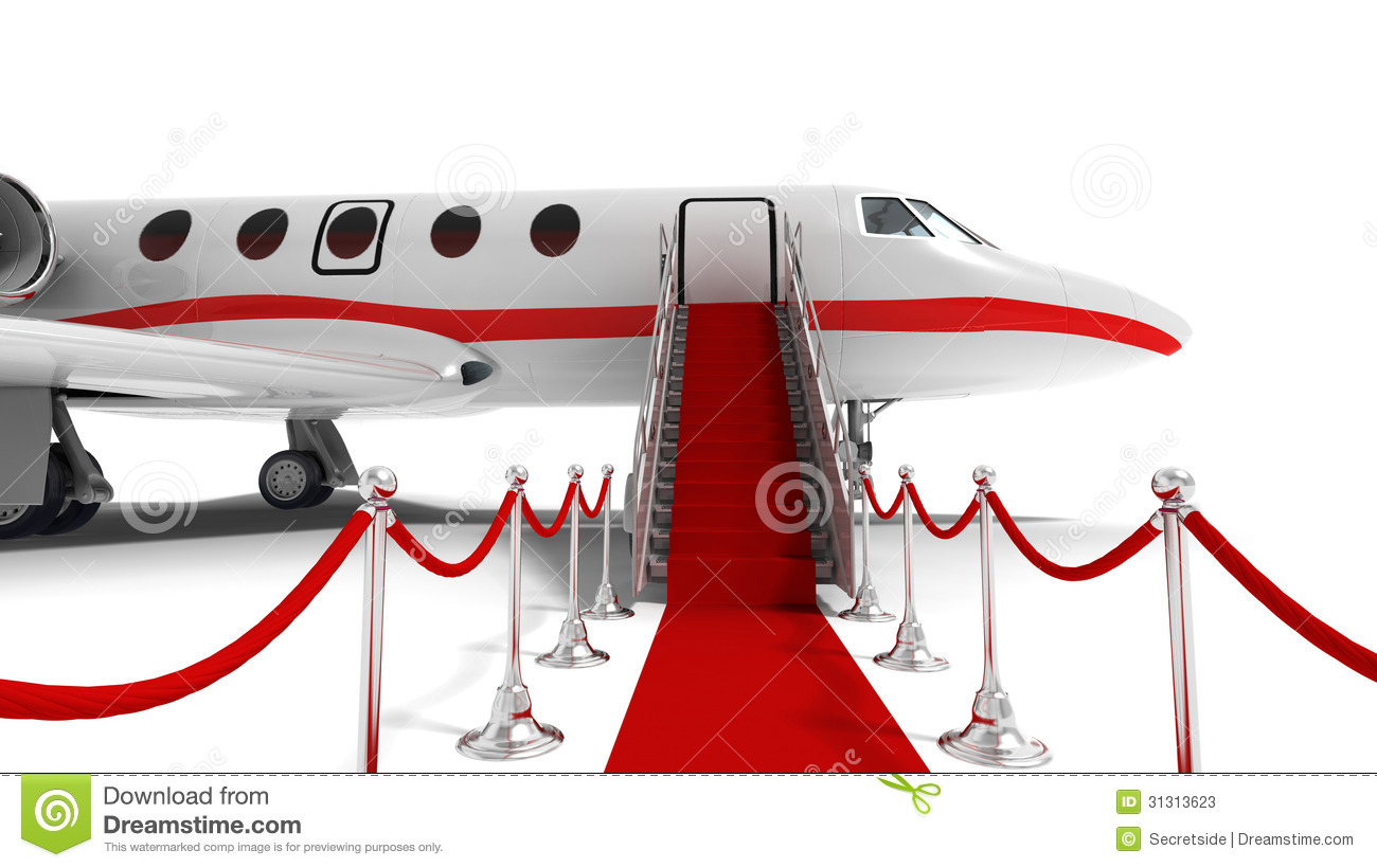 White Private Jet  Viewing Gallery