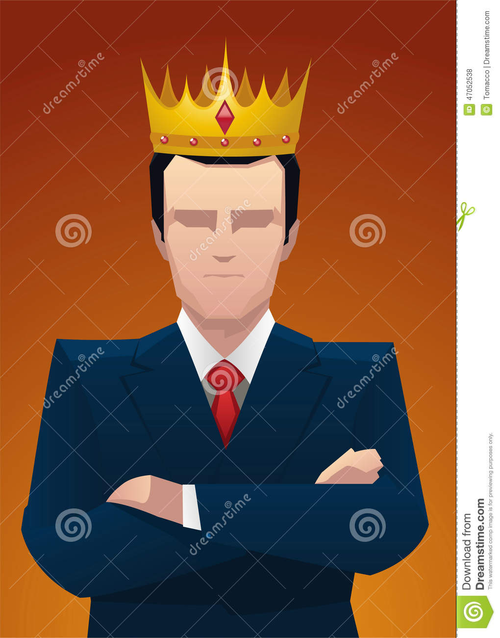 Business King Proud Confident Businessman Wearing Crown Stock Illustration Illustration Of Garment Social 47052538 300x378 cartoon vector old fantasy medieval king monarch sovereign. dreamstime com