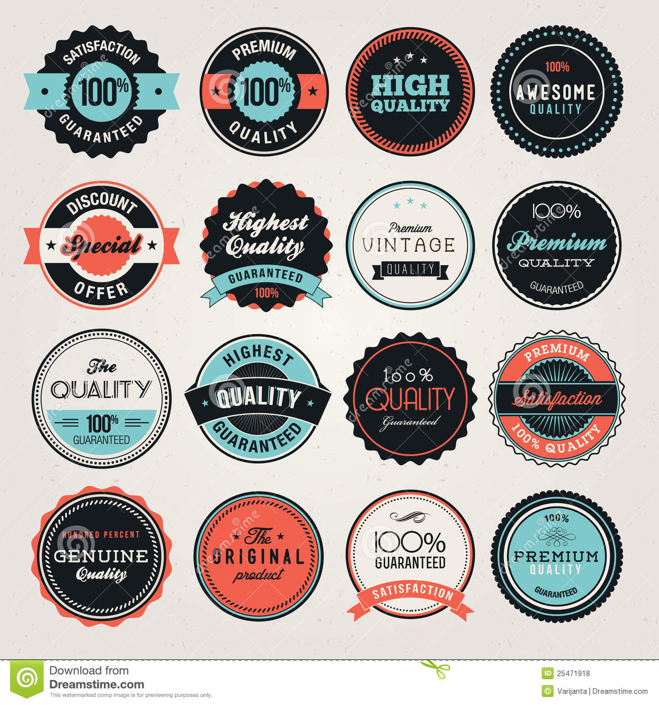 Business labels and badges