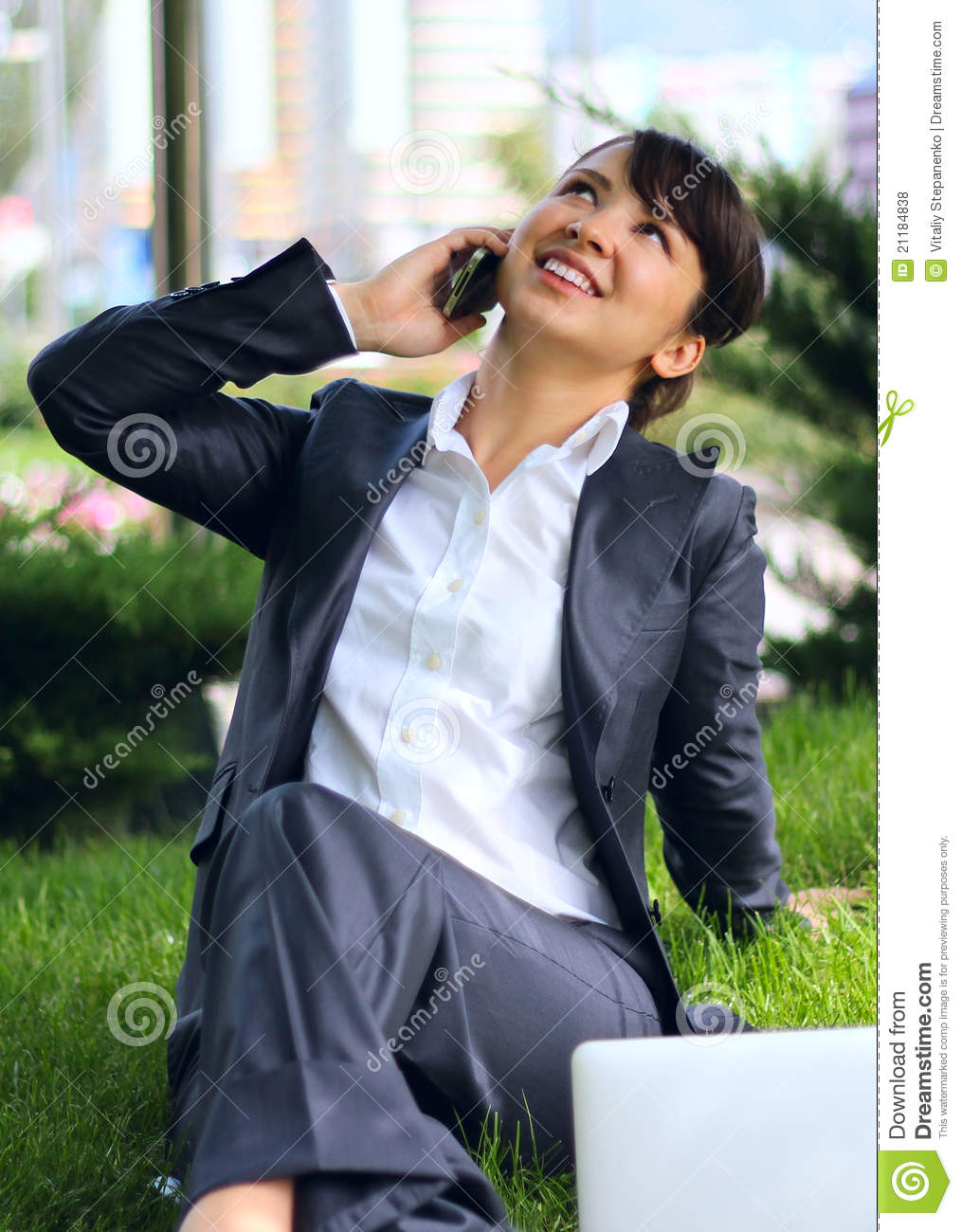 Business lady with phone