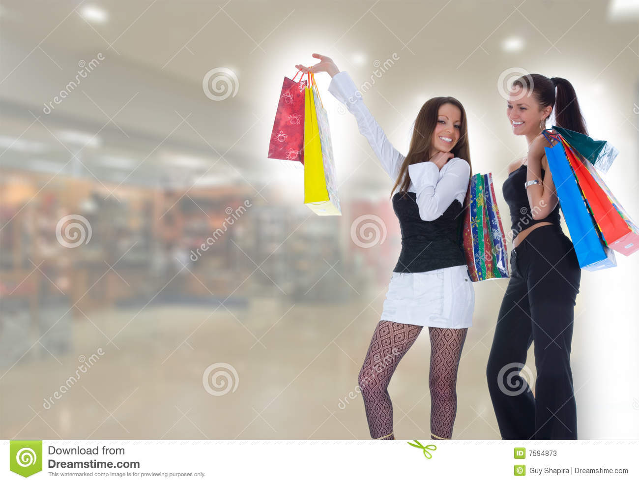 Business lady shopping