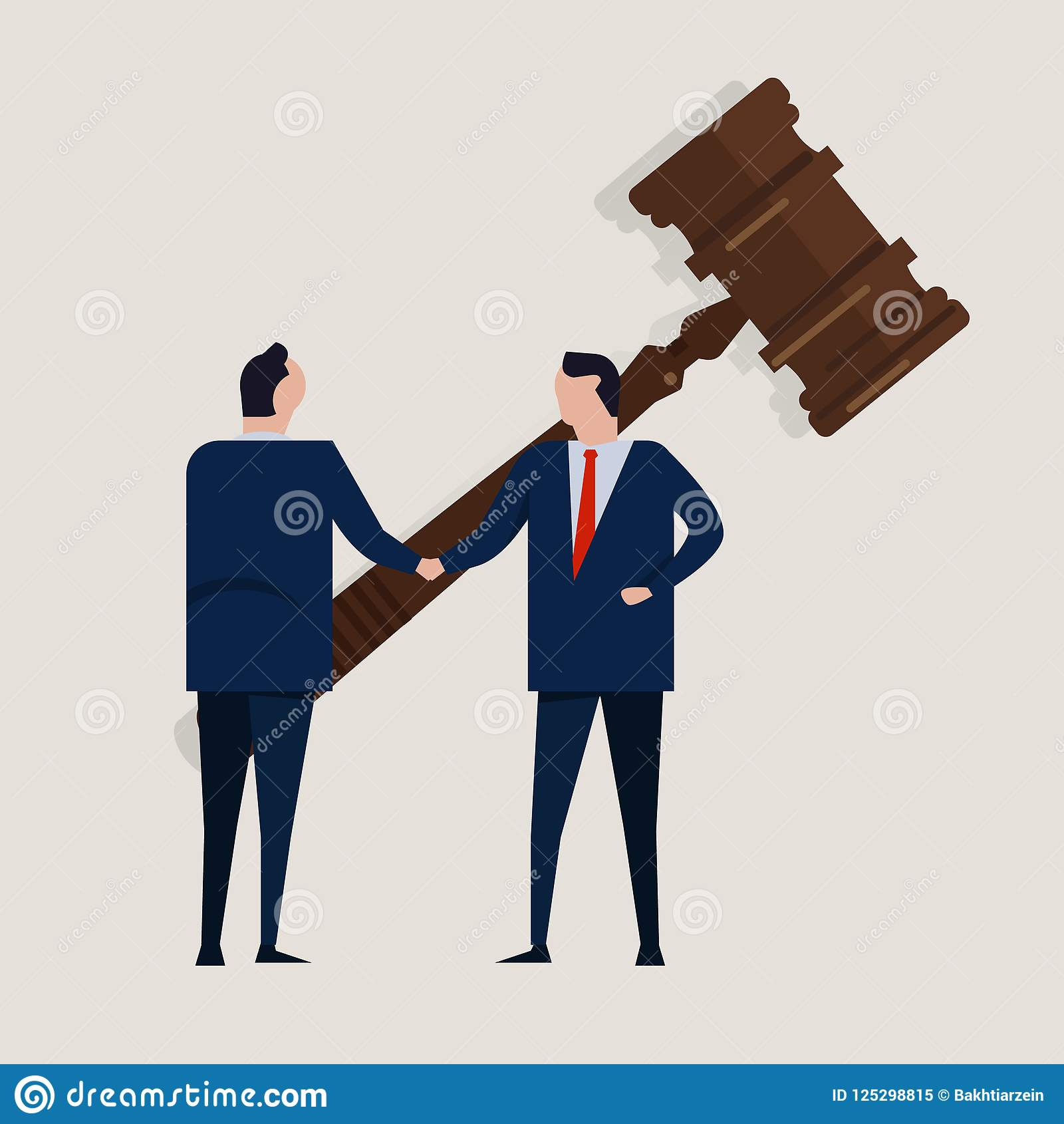 Business Law Legal Contract People Agreement Standing Handshake