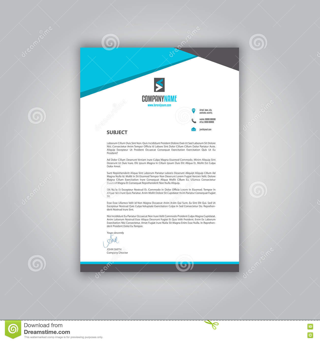 Business Letterhead Vector Image 77027859 – Business Letterhead