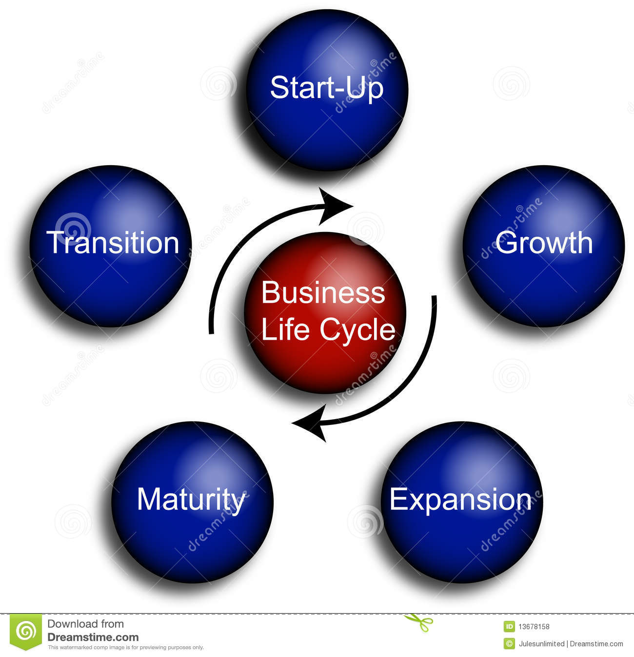 Business Life Cycle Diagram Stock Illustration
