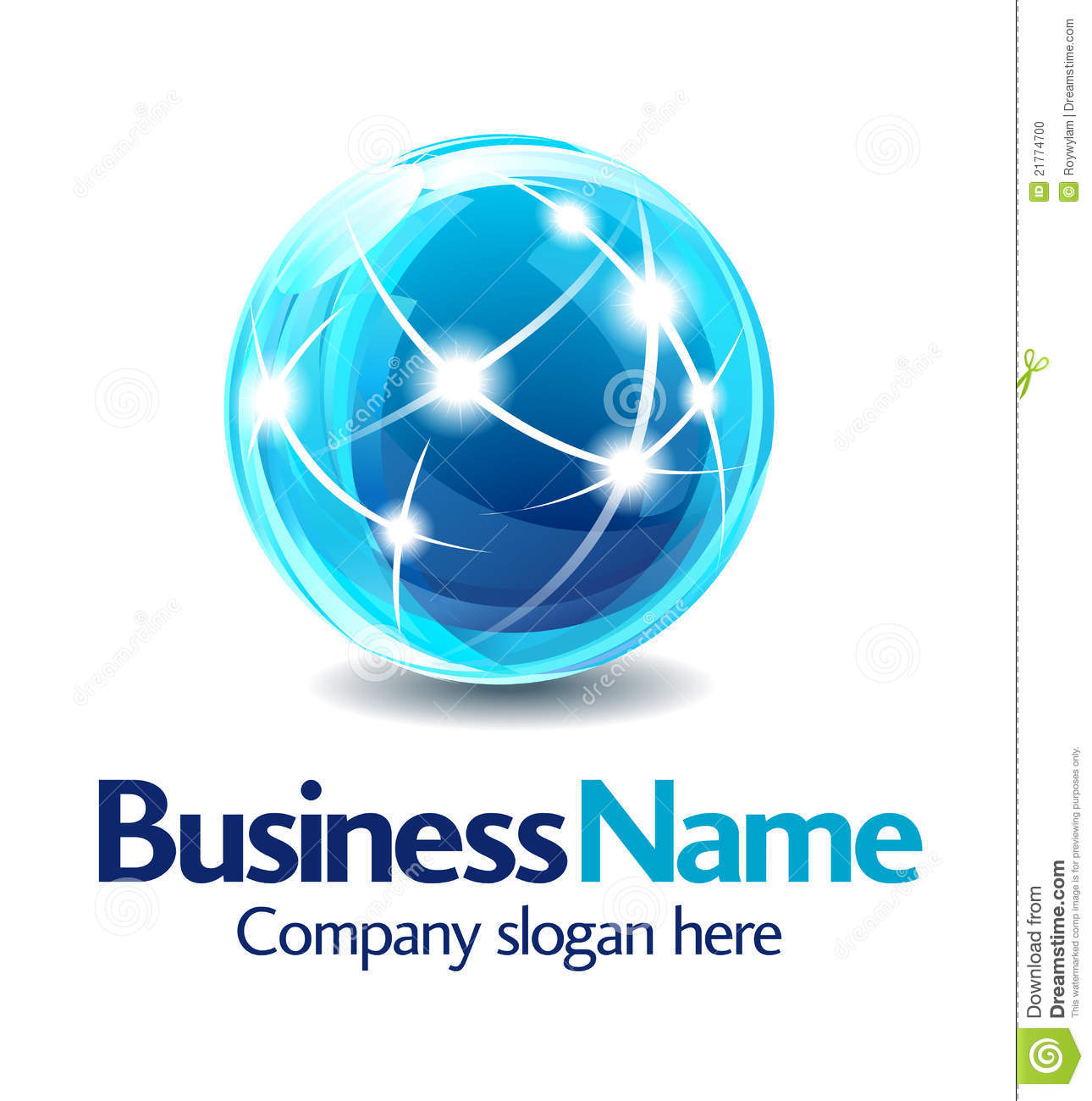 Business logo design 3d stock vector illustration of for Global design company