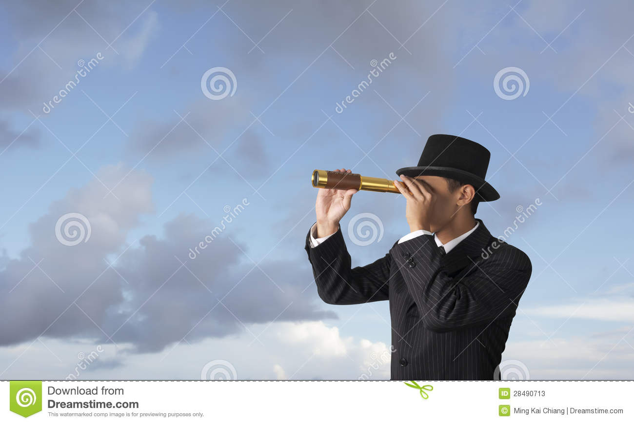 Business Looking Trough Telescope Stock Photos - Image ...