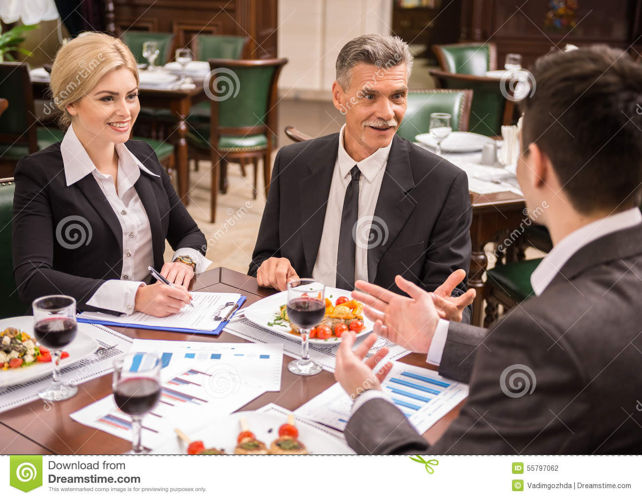 Business lunch stock photo image 55797062 for Group lunch