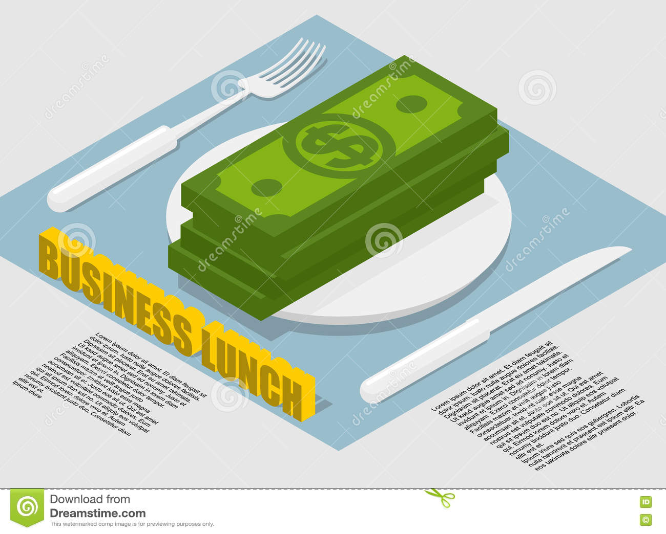 Business Lunch Infographics On Food Costs  Spending On Food