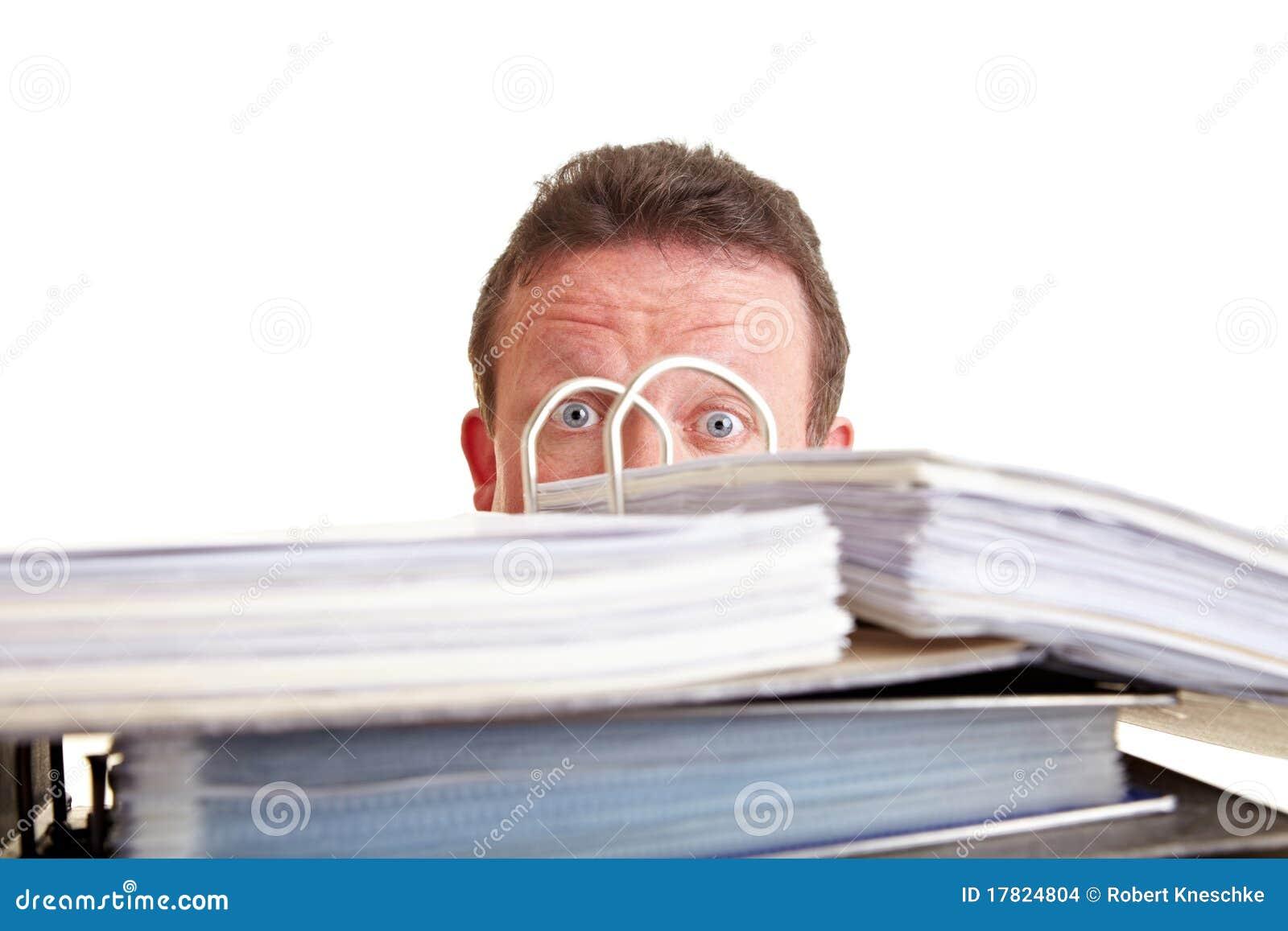 Business man afraid of tax audit