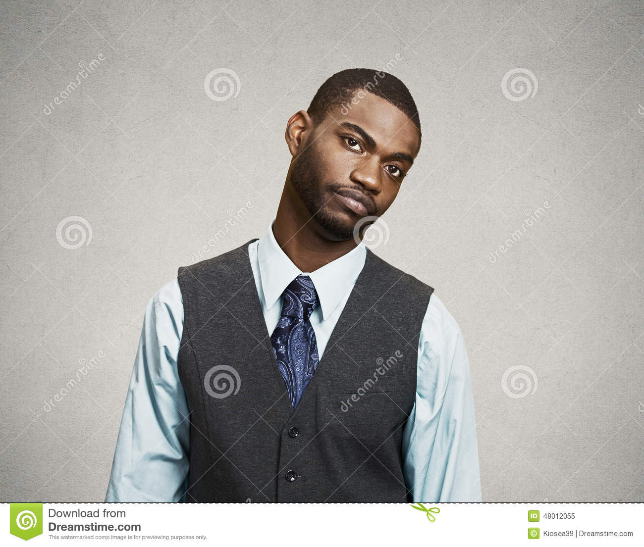 Business man with annoyed face expression
