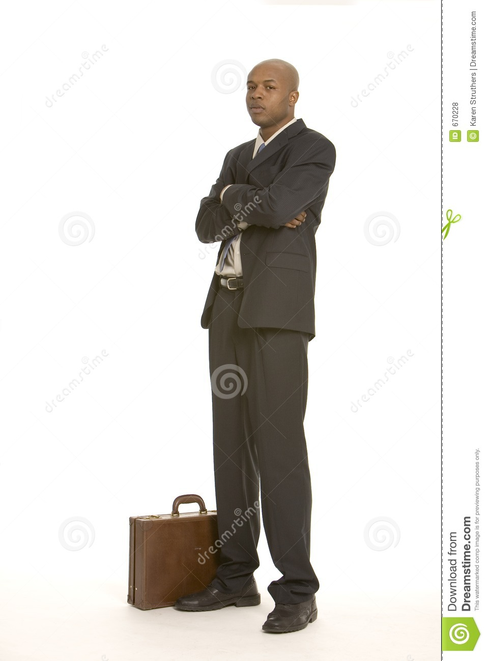 Business man with arms folded