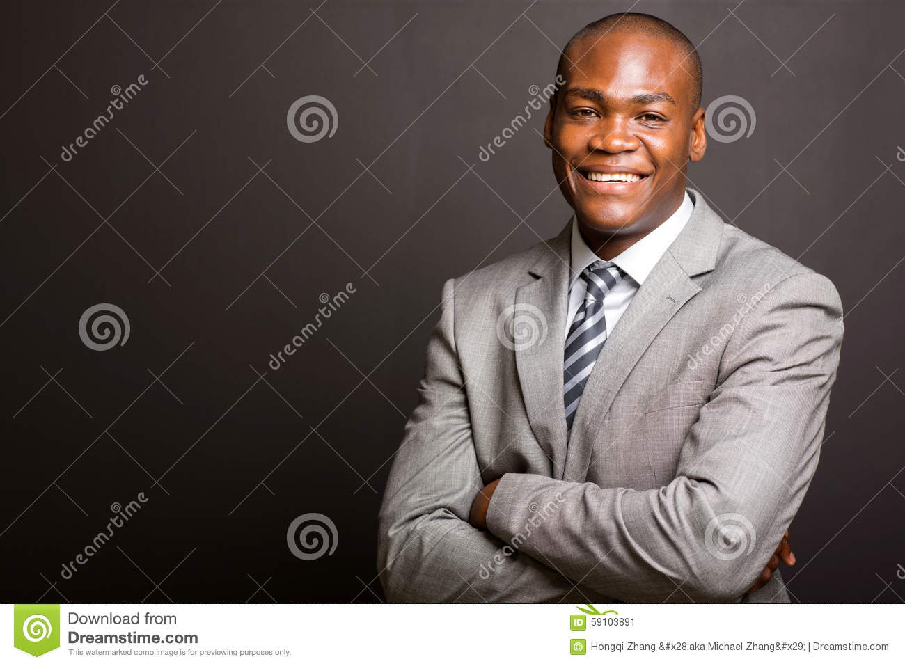 Business man arms folded
