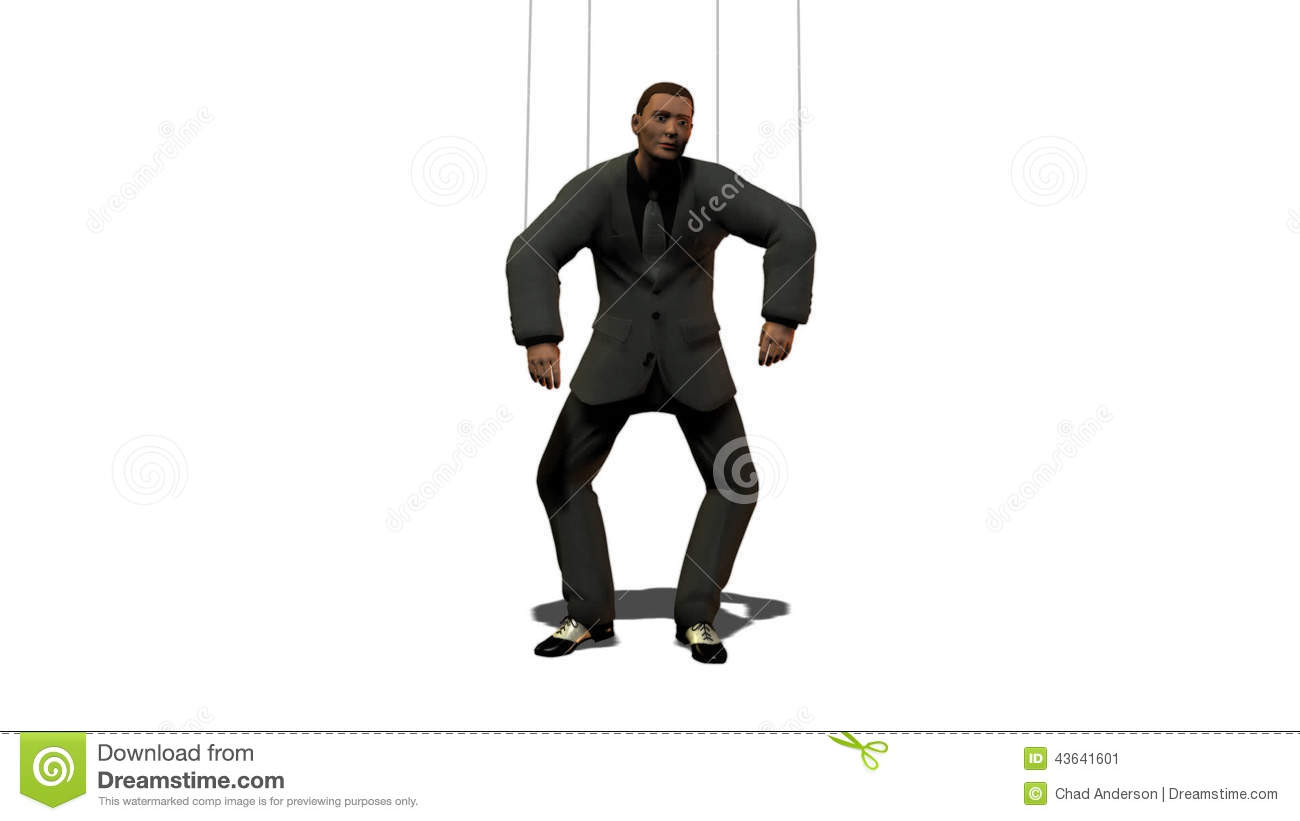 Business Man as Puppet stock video  Video of video, wire